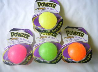 Powzer Glow in Dark Ball Small Durable Rubber Dog Toy