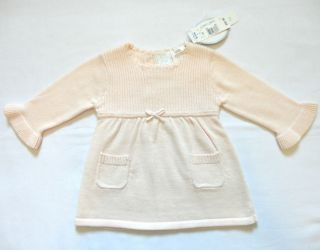 Koala Baby Boutique Baby Girls Sweater Dress Pink Empire Waist Size 3