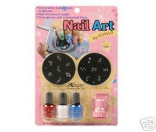 Konad Nail Art Starter Kit C Pink Stamping Printing AR