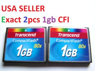 Transcend Compact flash CF I memory card for Nikon Canon Kodak CF i