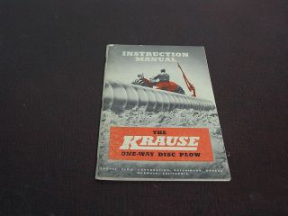 Krause One Way Disc Plow Instruction Manual 48 Pages 1948