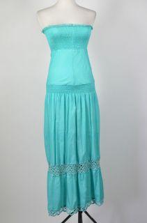 Kourtney Kardashian Elissa Coleman Aqua Tiered Strapless Dress Size M