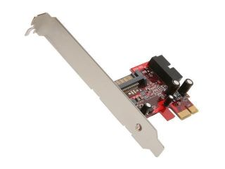 Koutech Dual Channel USB 3 0 PCI Express Card w USB3 ICC 15 pin SATA
