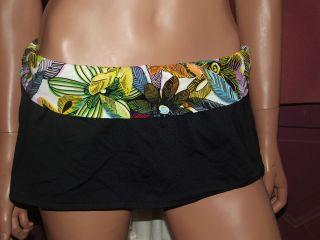 La Blanca Black Bikini Swim Skirt Swimwear Bottoms NWT 75 00 Size 16