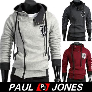 Paul Jones Mens Slim Top Designed Hoodie Jacket Winter Coats XS s M L