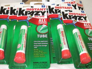 Krazy Glue All Purpose Instant Glue 07 oz Tubes 48 Ea