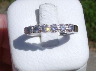 Kwiat 18K White Gold 7 Stone vs FG Diamond Ring