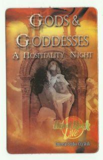 HARD ROCK CAFE LIVE GODS GODDESSES HOSPITALITY CARD UNIVERSAL STUDIOS