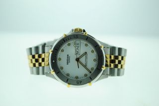 Krieger Day Date Two Tone Stainless Steel Watch M882 1