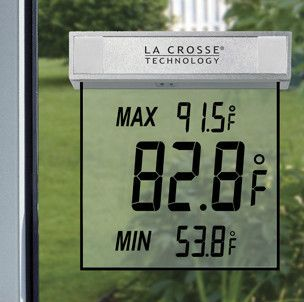 NEW IN BOX   LA CROSSE TECHNOLOGY 306 605 SOLAR PANEL OUTDOOR WINDOW
