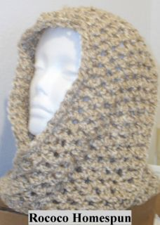 Hand Crocheted Infinity Eternity Scarf Rococo Lion Homespun Yarn