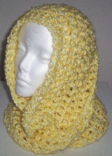 Hand Crocheted Infinity Eternity Scarf Lemonade Lion Homespun Yara