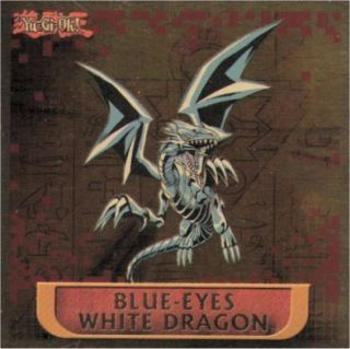 Yu Gi Oh Blue Eyes White Dragon Hologram Sticker