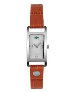 LACOSTE LADIES LAW2000351 INSPIRATION BROWN LEATHER STRAP DESIGNER