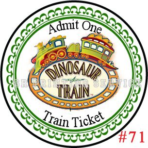 Stickers Dinosaur Train Birthday Labels Stickers 1 67 inch 48 Each