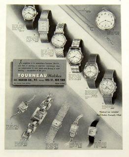 1945 Tourneau Watches Ladies Bracelets Wrist Jewelry Pocket Chain
