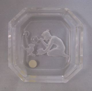 Czech Open Salt Intaglio Lady Bird Bubbles