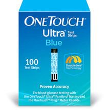 100 One Touch Ultra Blue Test Strips Save $$ Free SHIP