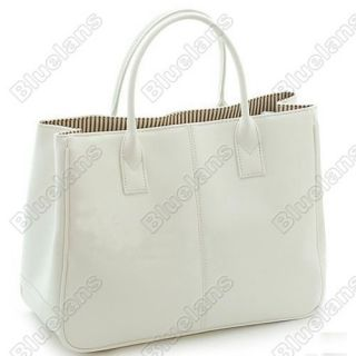 Womens Ladies PU Leather Handbag Tote Shoppers Top Handles Bags Purse