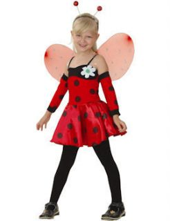 Child Girls Ladybird Costume Age 3 10yrs Fancy Dress Ladybug Insect