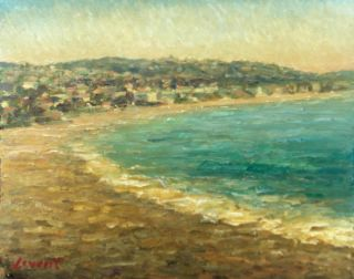 Levent Deparis Laguna Beach Original Impressionist Oil painting 10x8