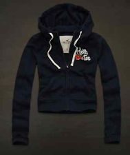Hollister womens medium navy blue laguna hills hoodie jacket floral M