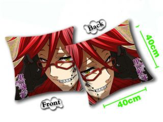 Black Butler aka Kuroshitsuji Anime Plush Pillow Grell Pillow case AND