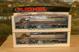 Lionel 6 12837 Humble Oil Tanker Tractor Trailer Semi Truck