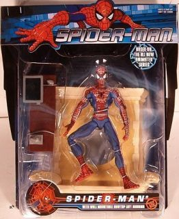 Animated MTV Series Spider Man with Rooftop Diorama and Lab by Toy Biz