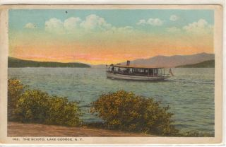 The Scioto Naval Cover 1923 Lake George NY Postcard