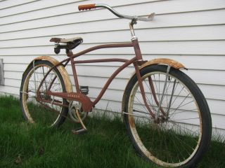 Vintage Hiawatha Seneca Bike Old Antique Bicycle Parts Rat Rod