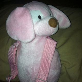 Bauer PINK Baby Backpack Harness Safety Child Leash Labrador Puppy Dog