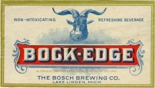 Bosch Brewing Bock Beer Label T Shirt Lake Linden Mich