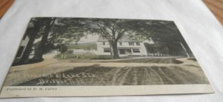 Bristol NH COR Pleasant Lake St Vintage Postcard