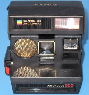 Land Camera Auto Focus 660 Instant Film Camera Rainbow Tested 600 Film