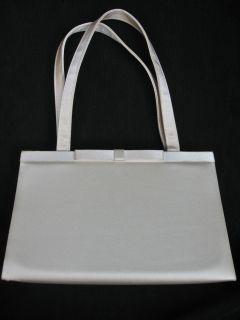 lovely ivory satin small evening/bridal bag, Valerie Stevens, good