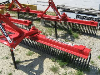Taylorway 72 6ft Rock Rake HD 3 Pt Hitch Tractor Garden Landscape Lawn