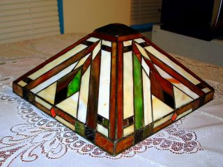 Tiffany Style Art Deco Lamp Shade Stained Glass Look