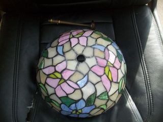 Stained Glass Ceiling Lamp Shade Floral