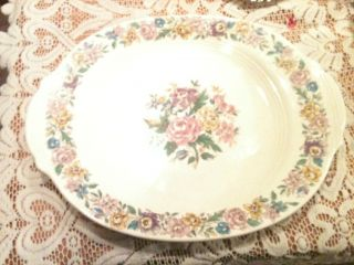 Vintage Salem China Lansdowne Floral Roses Platter Great Condition