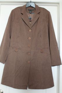 Lane Bryant Brown Trench Coat Size 20 NWT