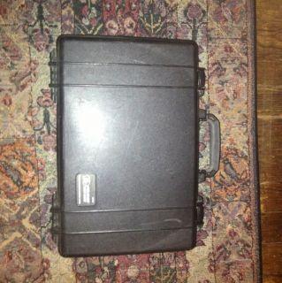 1490 Pelican Hard Shell Waterproof Laptop Gun Case Black w Foam MSRP $