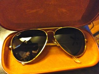 Rayban Large Metal Aviator Sunglasses L2846 62 mm Gold Perfection