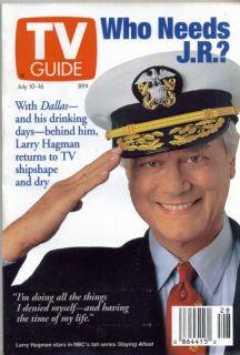 TV Guide July 10 1993 Dallas Larry Hagman NY EDT