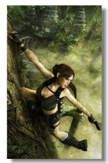 Lara Croft Tomb Raider Underworld Game Silk Poster 21