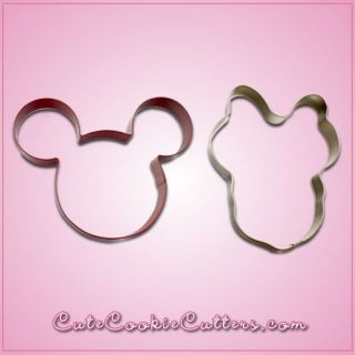 Large Mickey and Minnie Mouse Cookie Cutters