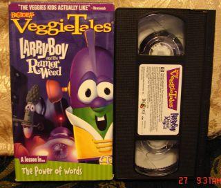 LARRY BOY and the RUMOR WEED VeggieTales Veggie Tales Vhs Video