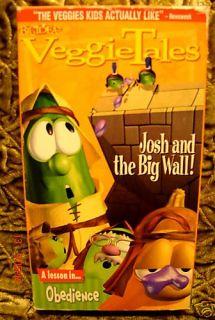 VeggieTales Josh and The Big Wall VHS Christian Video We SHIP Unlimted