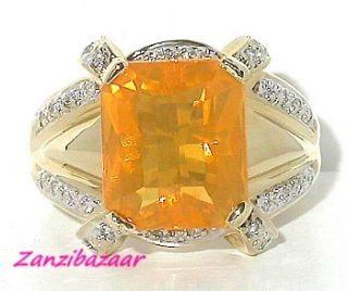 Laura Ramsey 14k Gold Emerald Cut Opal Diamond Ring