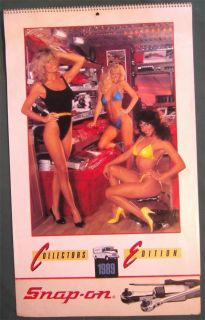 1989 Snap on Tools Large Pin Up Calendar Sexy Swim Suit Bikini Girls